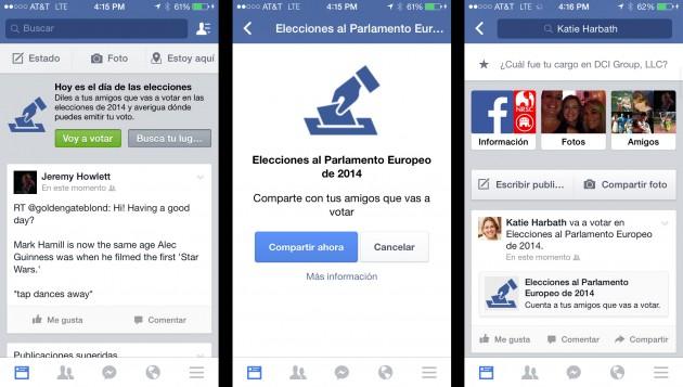Así es el botón que los ciudadanos europeos verán durante la jornada de votación.