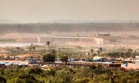 Una vista de la presa de Jirau.