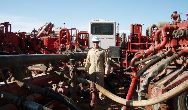 Una instalación de 'fracking'
