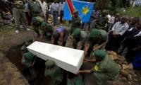 Entierro de un guardabosques asesinado en el Parque Nacional de Virunga