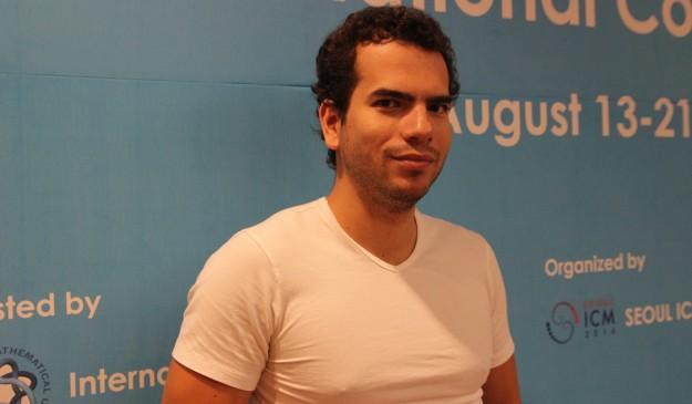 Artur Ávila, durante el congreso de Seúl.