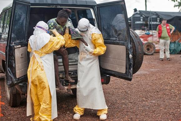 Centro de tratamiento de Ébola de MSF en Kailahoun, Sierra Leona