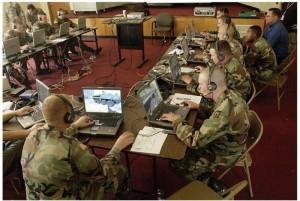 Soldados estadounidenses se entrenan con el software DARWARS.