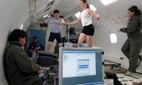 Pruebas de carrera a bordo de un avión DC-9, con gravedad reducida