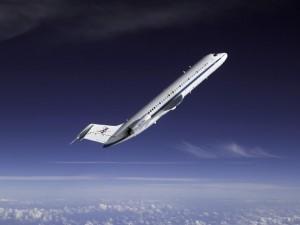 Un avión DC-9 de la NASA, durante un ejercicio