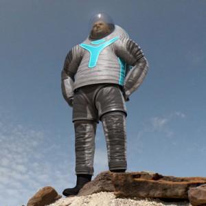 Uno de los trajes espaciales en pruebas de la NASA, el Z-2