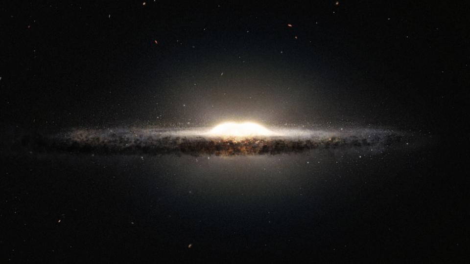 Recreación de la Vía Láctea